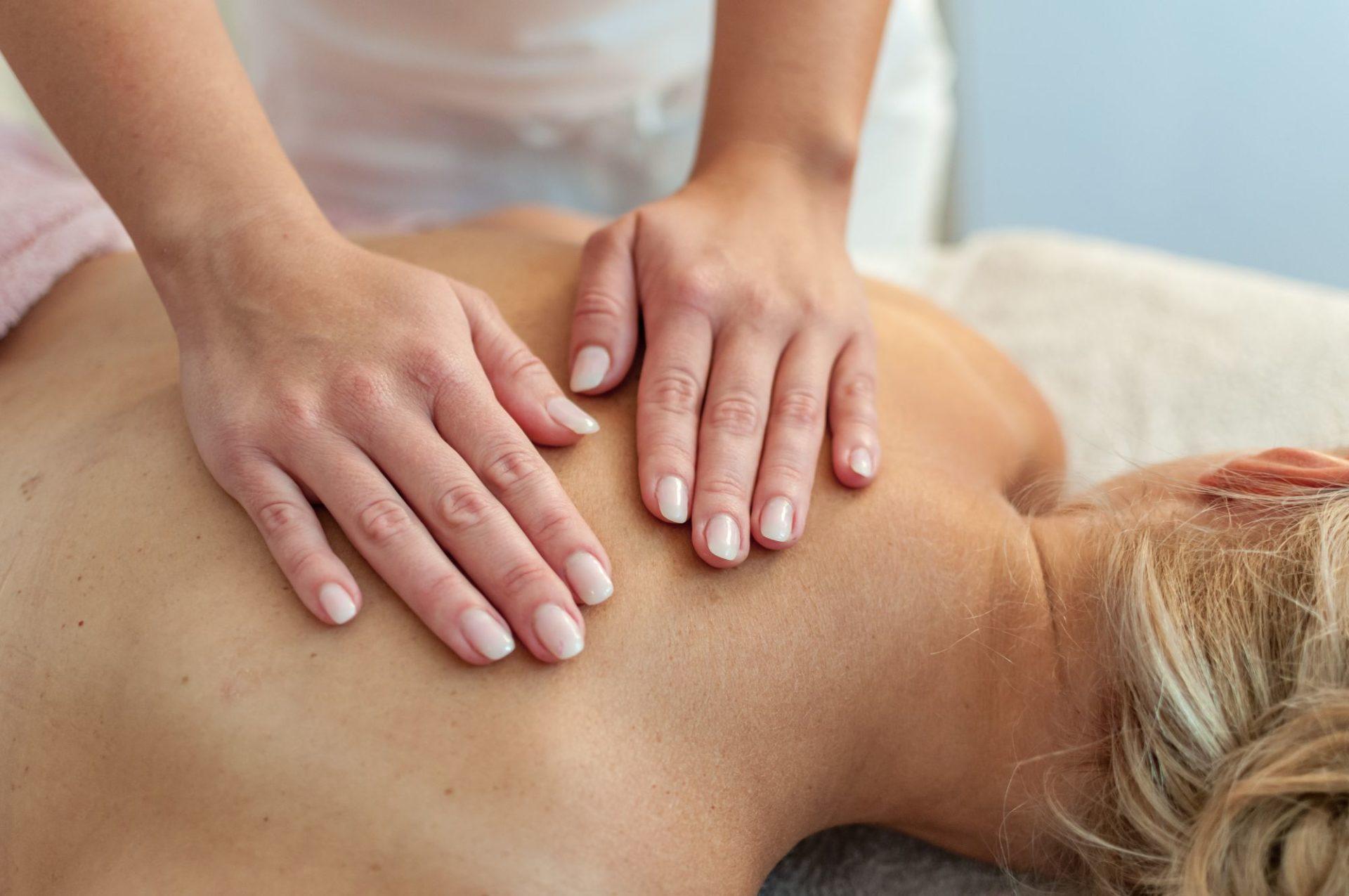 Detailaufnahme Massage