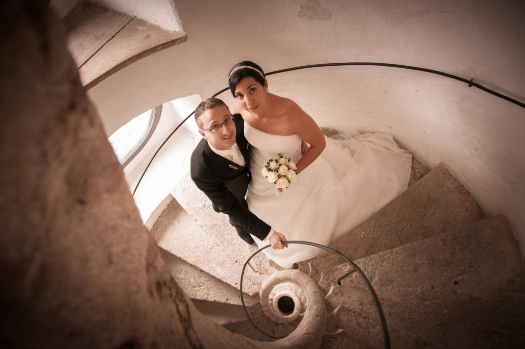 Paar in Wendeltreppe
