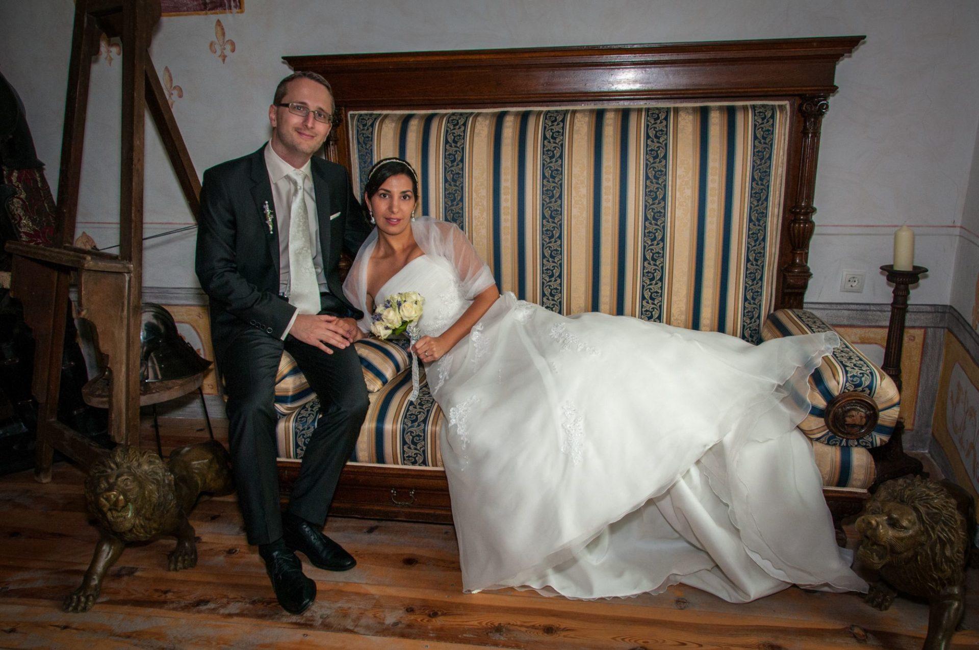 Paar im Schloss