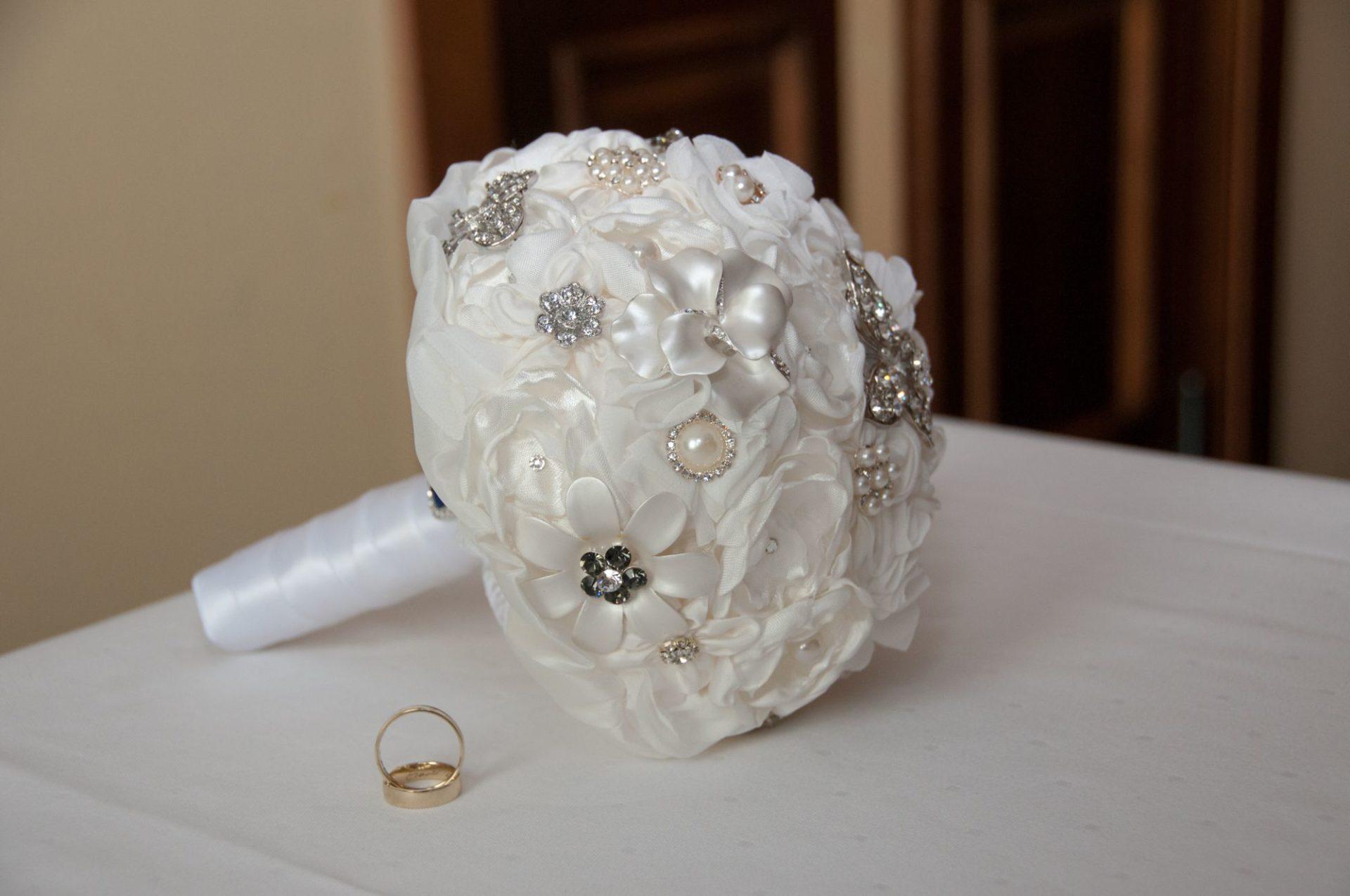 Brautstrauss aus Seide